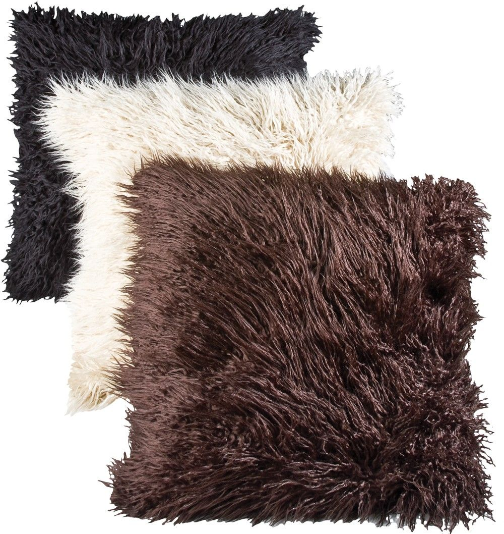 mongolian faux fur cushion cushions covers inserts. Black Bedroom Furniture Sets. Home Design Ideas