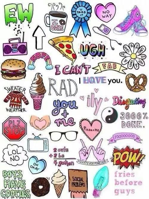 Tumblr Collage Cute Wallpapers Tumblr Stickers Drawings