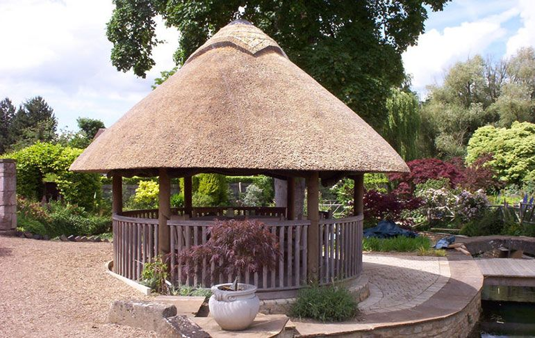 Out Door Africa Thatched Roof Shed Design Garden Gazebo