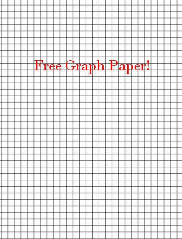 Printable graph paper--many sizes Craft ideas Printable graph