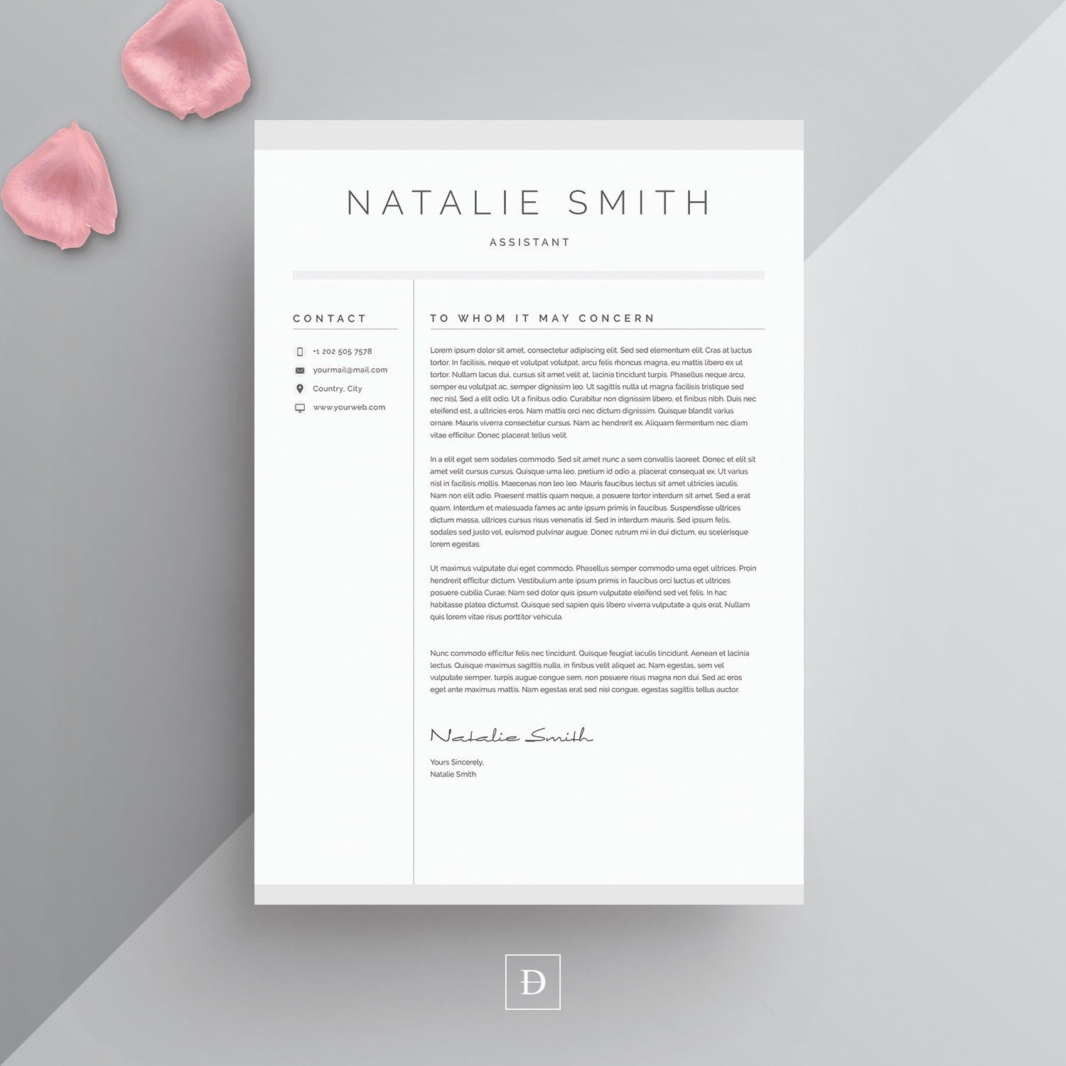 Word Resume Cover Letter Template With Images Resume Cover