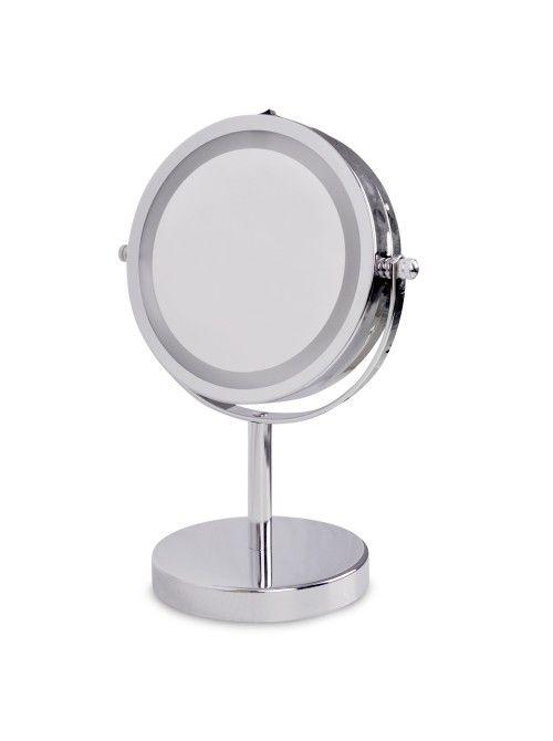 chrome extending illuminated led make up   shaving mirror