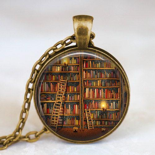 3810610ddaf Vintage Library necklace