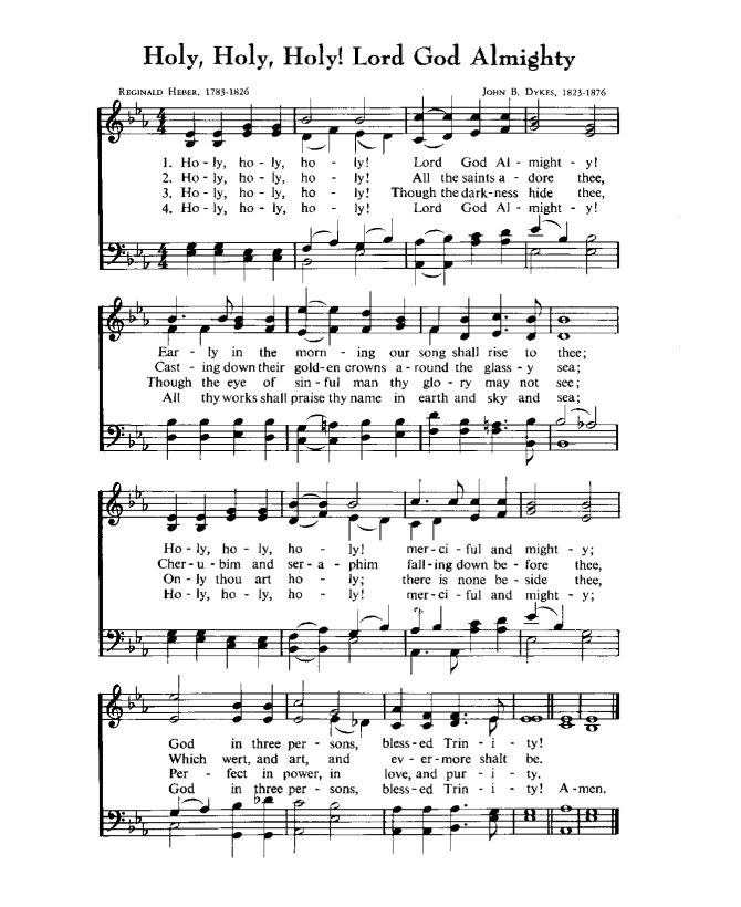 Image Result For Holy Holy Holy In E Flat Sheet Music Christian Songs Hymn Bible Printables