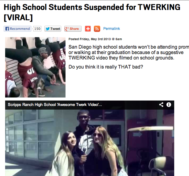 Scripps Ranch High School Twerking