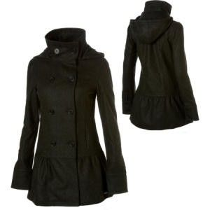 Roxy Midnight Bloom Hooded Peacoat - Women's review at Kaboodle ...