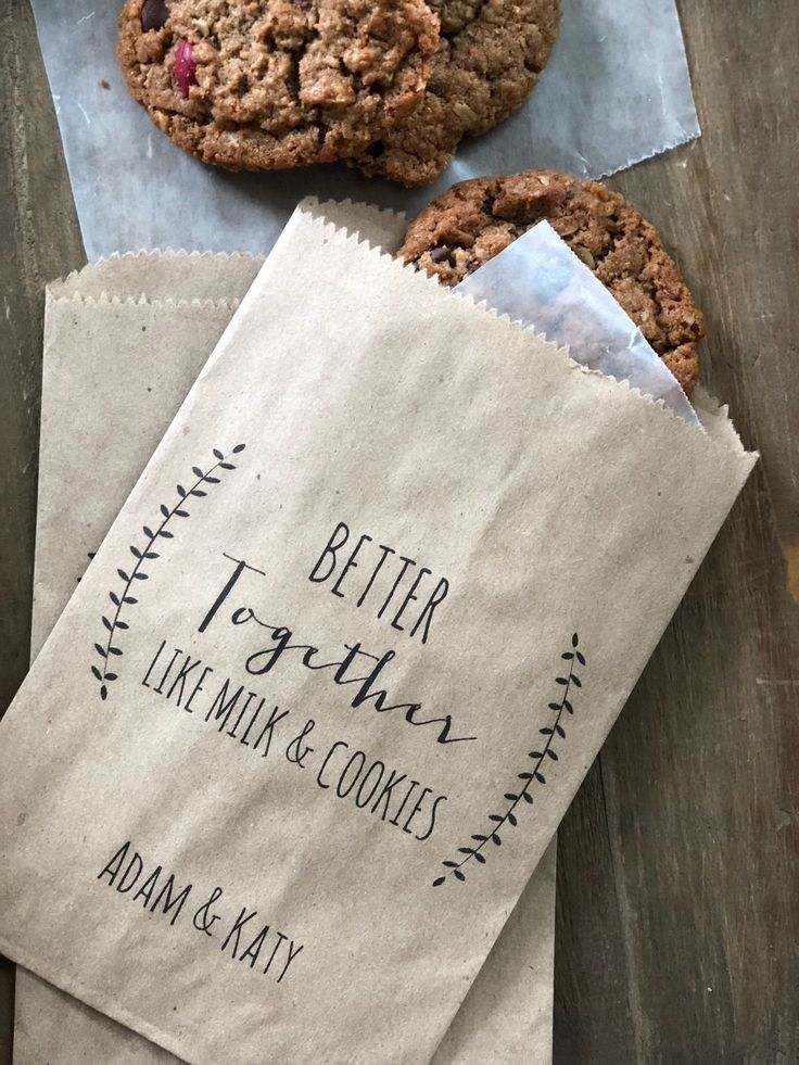 Wedding Cookie Bags  Candy Buffet Sacks  Custom Wedding Favors  Recycled Kra