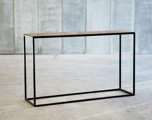 moderner konsolentisch aus holz und metall mesa ii. Black Bedroom Furniture Sets. Home Design Ideas