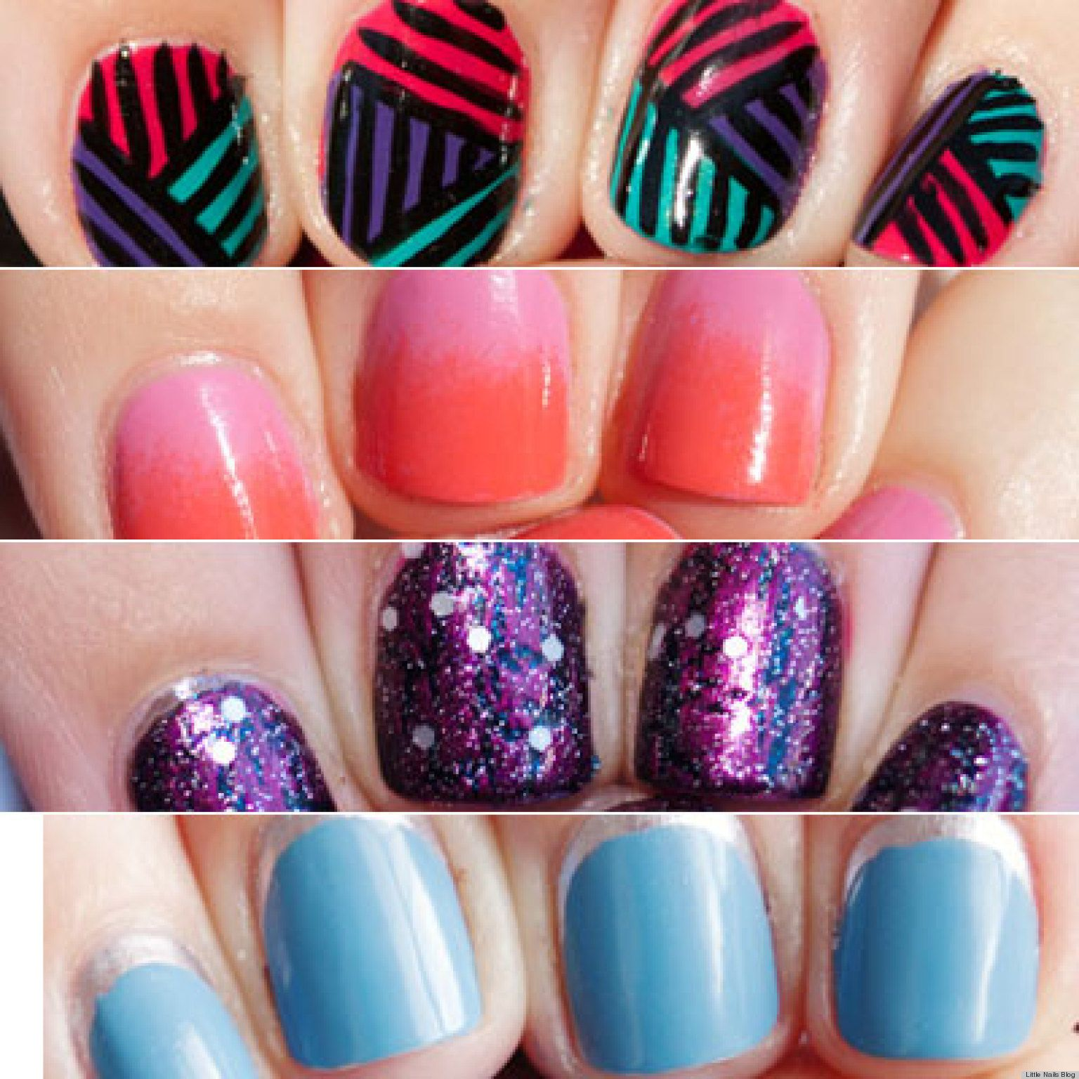 13 nail art ideas for teeny tiny fingertips photos short nails 13 nail art ideas for teeny tiny fingertips prinsesfo Image collections