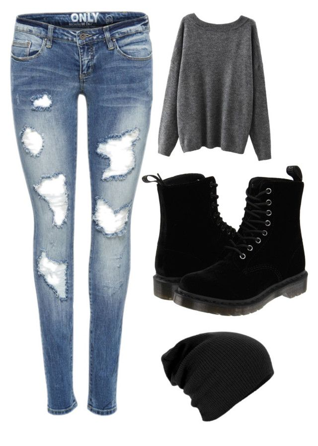 """Done with my biology final!"" by lolokitty ❤ liked on Polyvore featuring Dr. Martens"