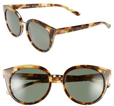 Tory Burch 53mm Polarized Retro Sunglasses
