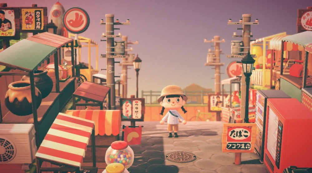 Animal Crossing Player Recreates Japanese Shopping District In New