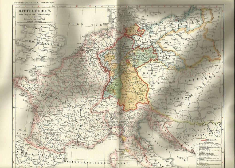 Elsass-Lothringen Landkarte Karte Lithographie 1894 alte historische Landkarte