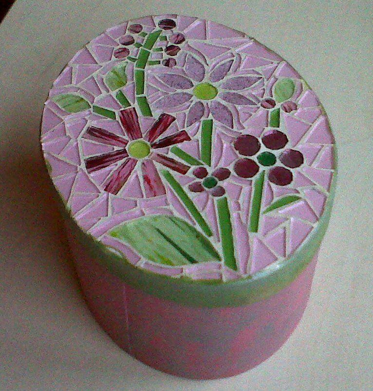 Tesselles en verre peint