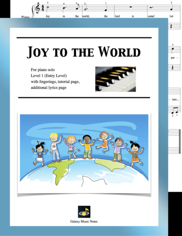 Joy to the World Level 1 cover sheet | Joy to the world, Music notes, Piano sheet music