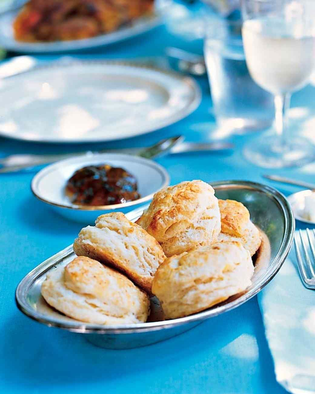 These flaky biscuits benefit from, but do not require, butter and spicy-sweet pepper jelly.