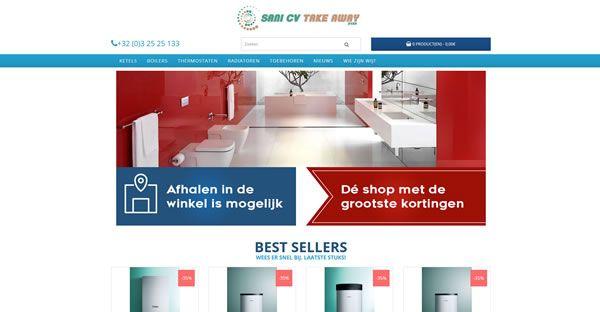 Webshop voor sanitair #Website #Webshop #e commerce #sani cv