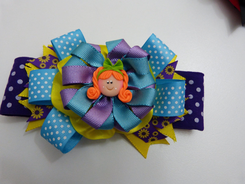 Flores mo os o lazos en cintas para el cabello paso a - Como hacer adornos para el pelo ...