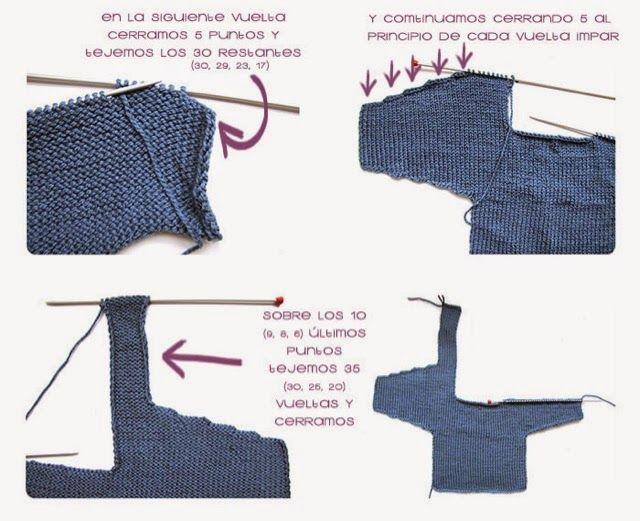 patrón chaqueta cruzada punto | Baby knit | Pinterest | Cruzado ...