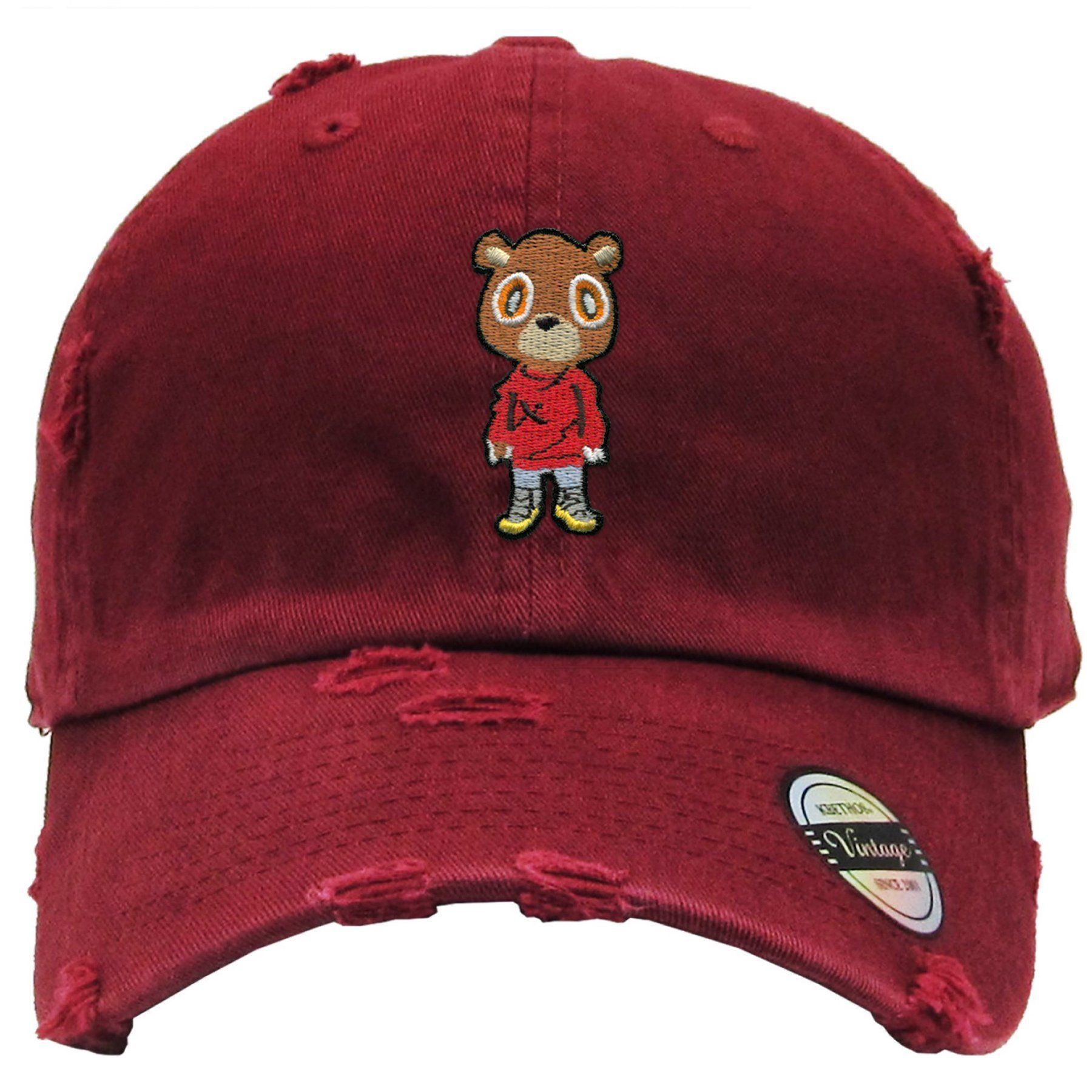 New Red Distressed THE COOL BEAR DAD Hat Snapback Strapback CAP