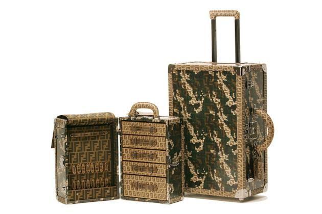 Fendi's Chameleon Luggage trunks