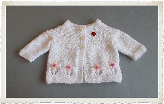 Ravelry Fleur Baby Cardigan Jacket Pattern By Marianna Mel Free