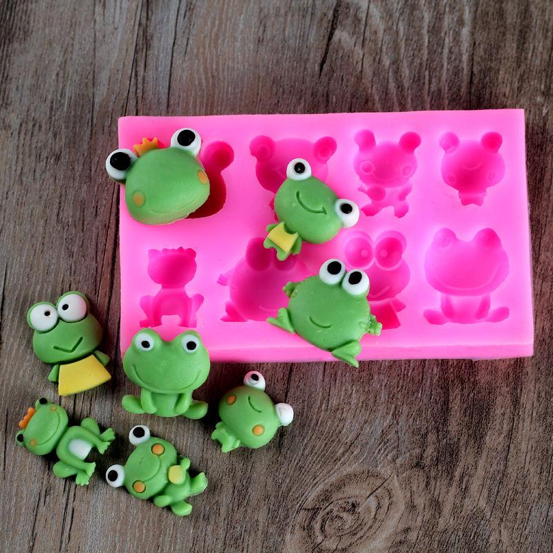 Frog Silicone Fondant Mold DIY Cake Chocolate Candy