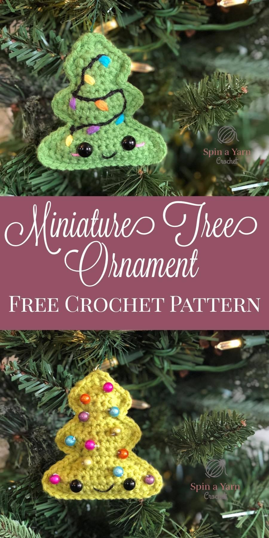 Miniature Tree Ornament - Spin a Yarn Crochet