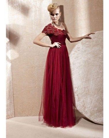 Organza Applique Ruffles Formal Dress