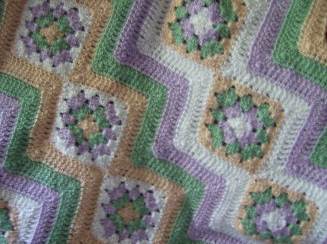 Ravelry: Project Gallery for Baby Granny Stripes Blanket pattern by ...