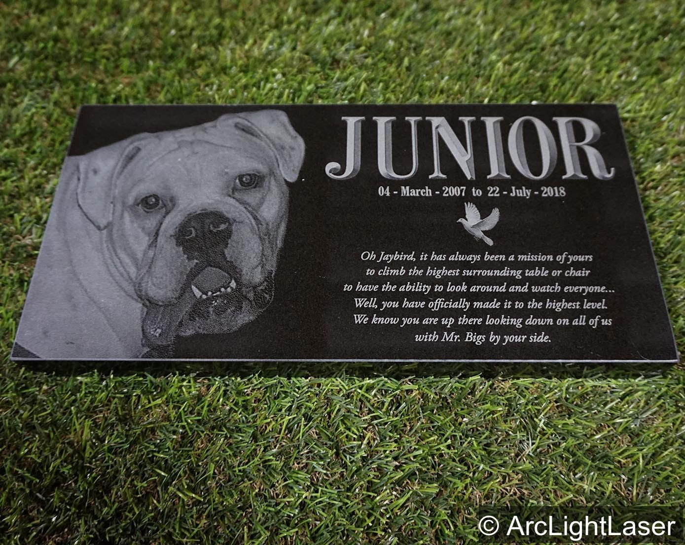 Our Black Granite Pet Memorials Are A Beautiful Tribute To Your