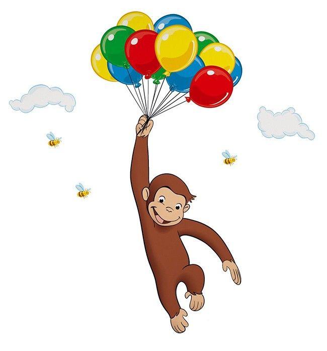 Curious George Balloon Cupcakes | Curious george, Balloon ...