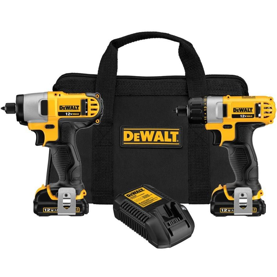 Dewalt 2 Tool 12 Volt Max Power Tool Combo Kit With Soft Case Charger Included And 2 Batteries Included Dck210s2 In 2020 Combo Kit Dewalt Dewalt Drill