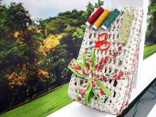 Arte Brasil | Caixa de Costura em Crochê - Carmem Freire
