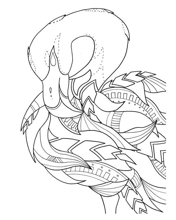 pre-framed flamingo coloring page by syvanahbennett on Etsy ...