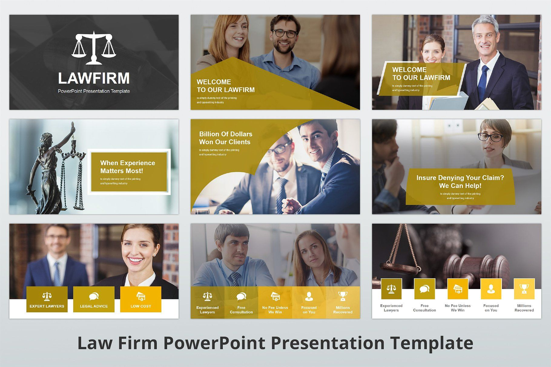 Law Firm Powerpoint Template Includes Template Audience