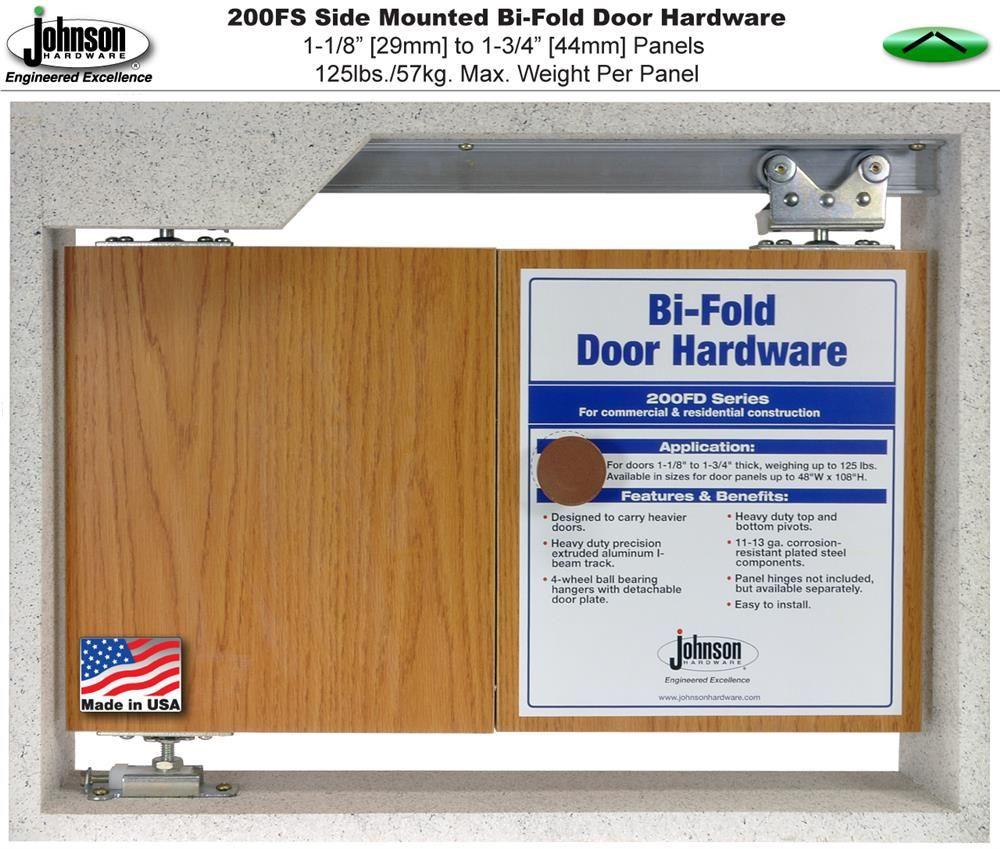 Johnson Hardware Heavy Duty Side Mounted Bi Fold Door Hardware Bifold Doors Folding Door Hardware Folding Doors