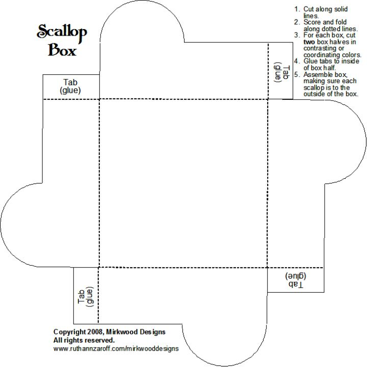 Scallop Box  Template Box And Box Templates