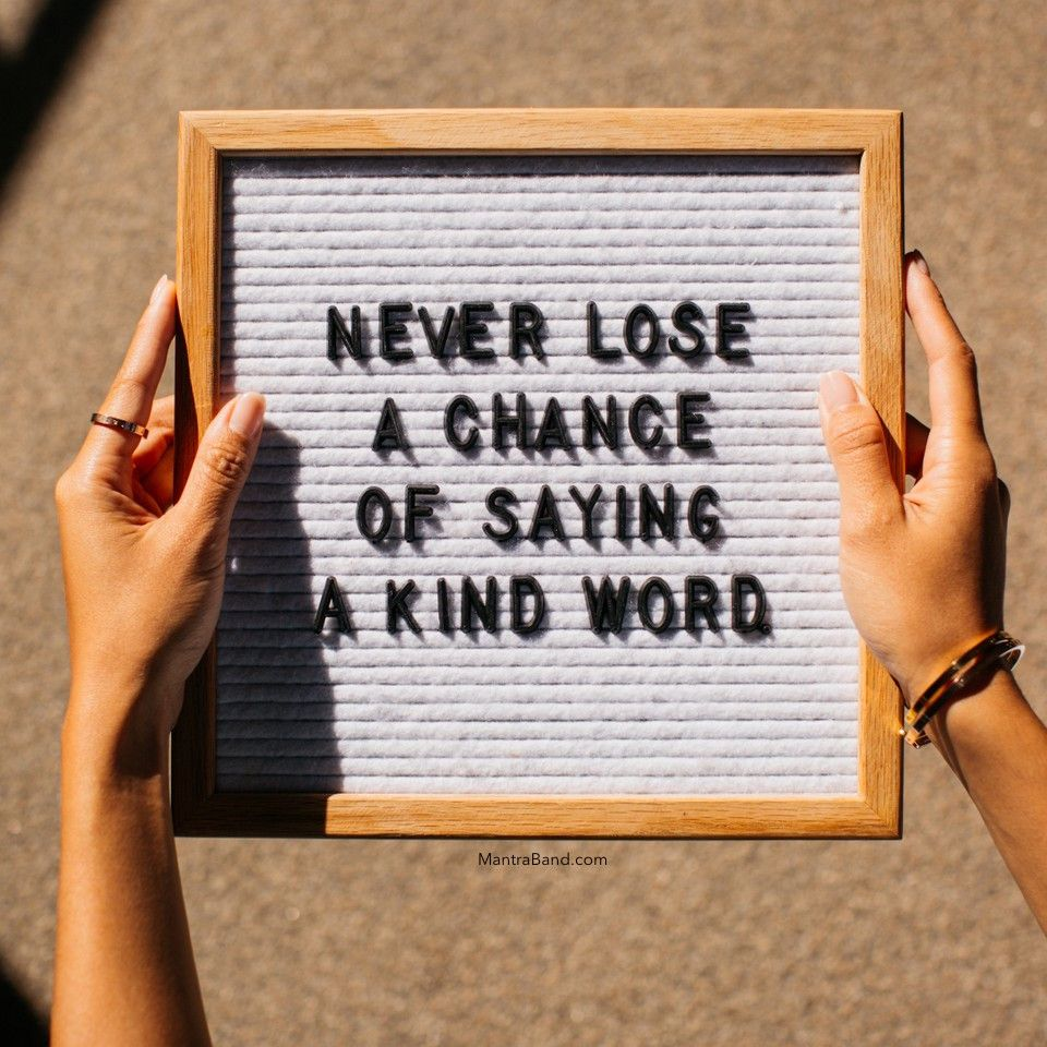 say kind words quotes