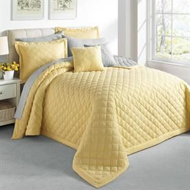 A Yellow Bedspread Adds Sunshine To Any Room Even On Cloudy Days