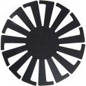 Flet-let-skabelon, diam. 8 cm, H: 6 cm, sort, 10stk.
