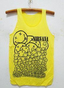 42ab122e276ae Nirvana Kurt Cobain Singlet Tank Top Shirt PUK Rock Band Tour 36