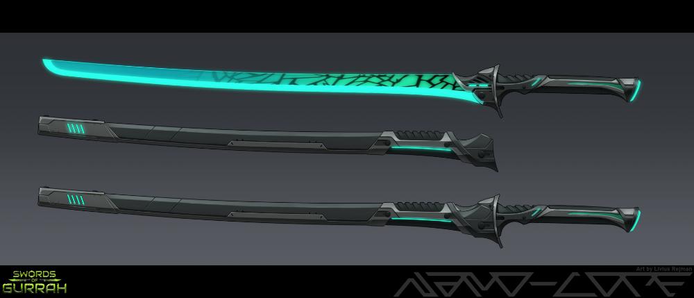 Artstation Sci Fi Energy Katana Livius Rejman Katana Weapon Concept Art Sword Design