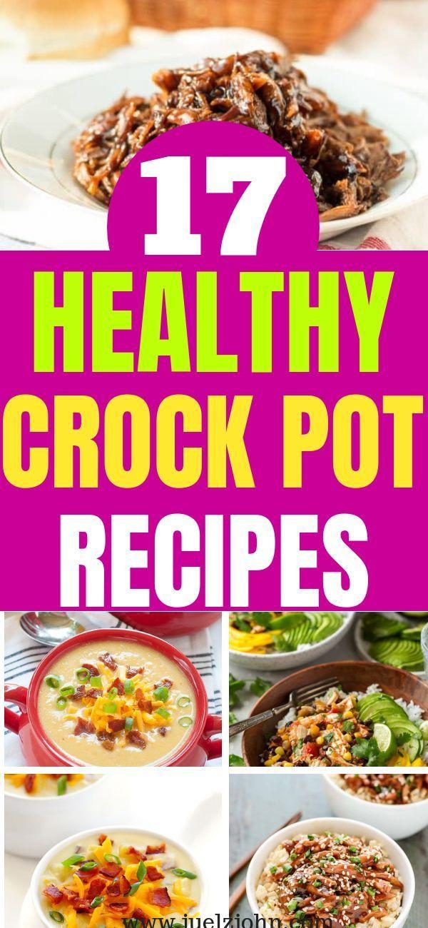 17 gesunde einfache Slow Cooker Rezepte, die super lecker sind #slowcookercrockpots