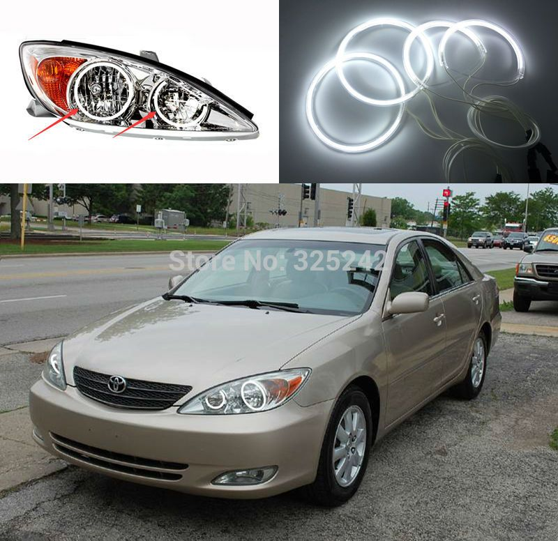 For Toyota Camry 2002 2003 2004 Le Xle Altise Excellent Ccfl Angel Eyes Ultrabright Headlight Illumination Kit