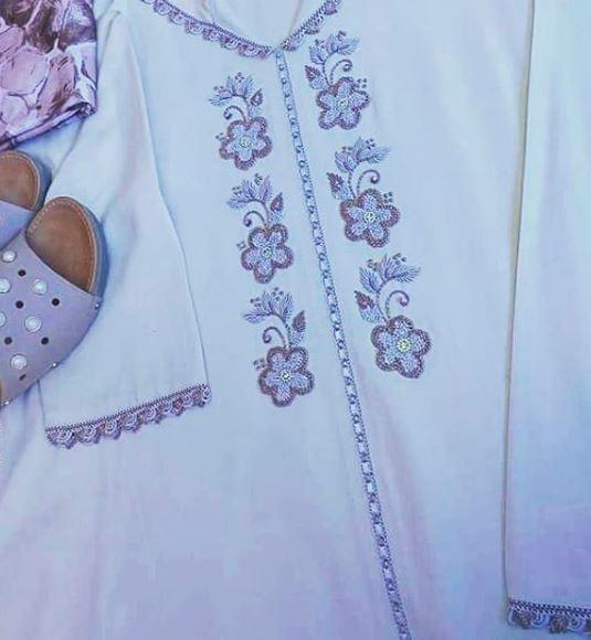 جلابة الراندة المطروزة 2019 جلابة الراندة 2019 جلابة الراندة 2020 Randa 2020 Long Sleeve Blouse Long Sleeve Fashion