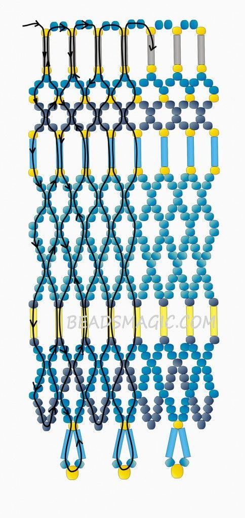 free pattern for necklace egypt beaded necklaces pinterest schmuck kette und schmuck basteln. Black Bedroom Furniture Sets. Home Design Ideas