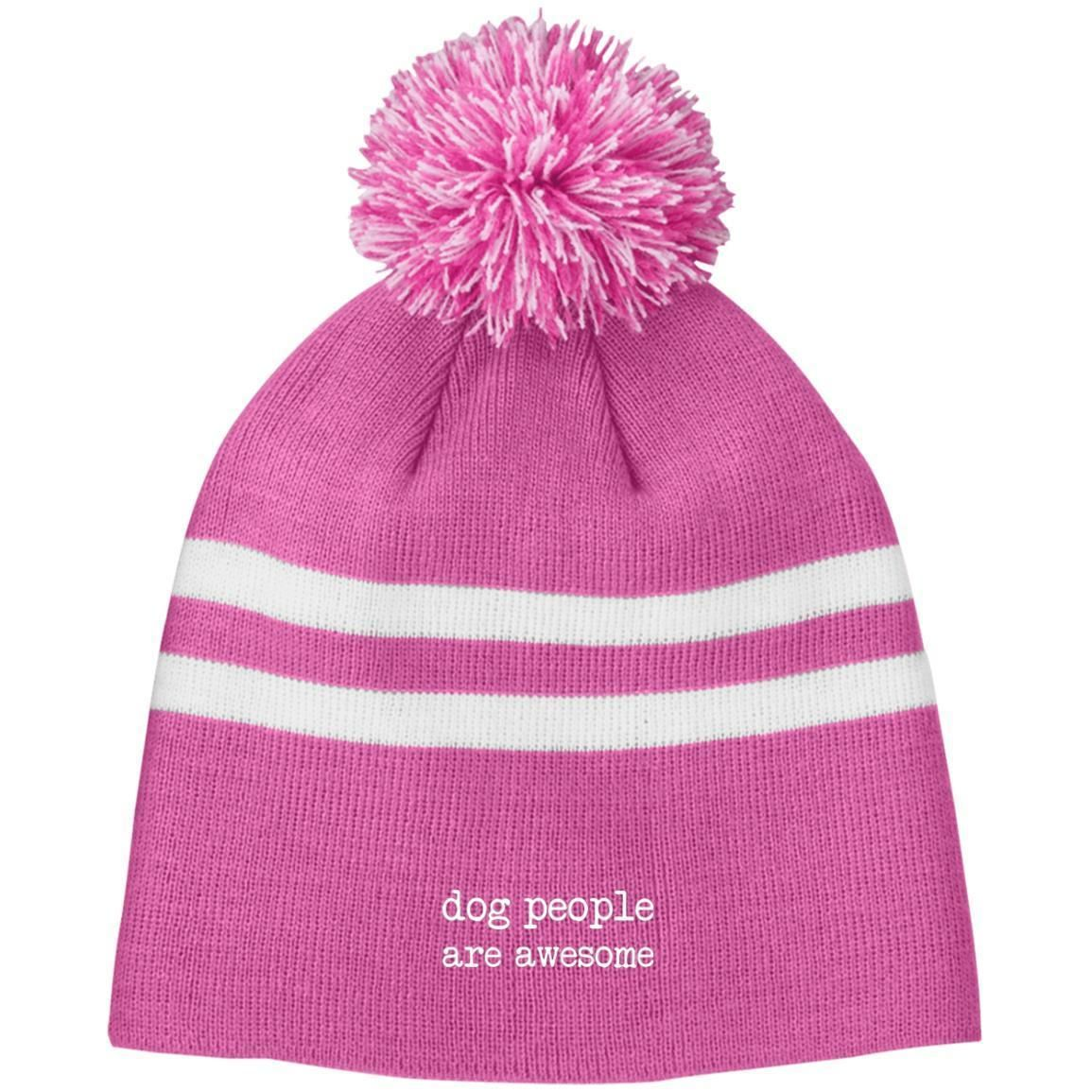 45414a8de Dog People Are Awesome Knit Pom Two Tone Beanie | Products | Beanie ...