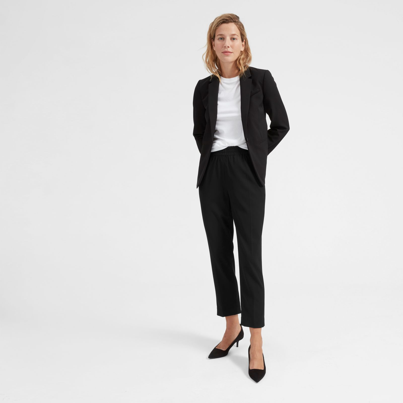 8d3675af9e0 Women s Italian Wool Pull-on Pant by Everlane in Black in 2019 ...