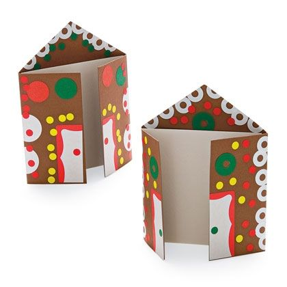 Card Of Gingerbread Houses Christmas Craft Photo 420 Ff0111creata02 Jpg 420 420 Gingerbread House Craft Holiday Crafts Gingerbread Crafts